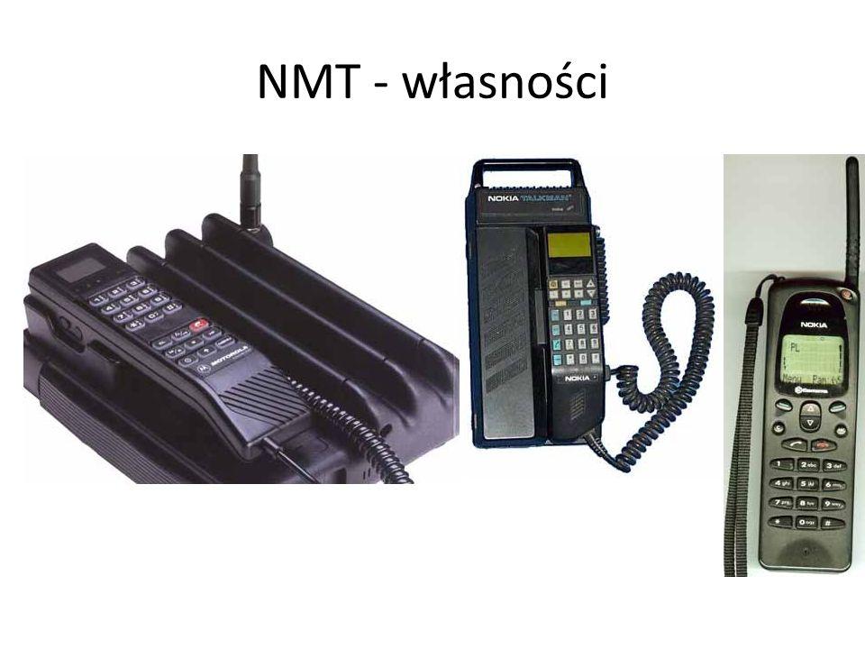 NMT - własnościZakres usług oferowanych przez system NMT jest w porównaniu do nowoczesnych systemów cyfrowych bardzo ubogi i obejmuje: