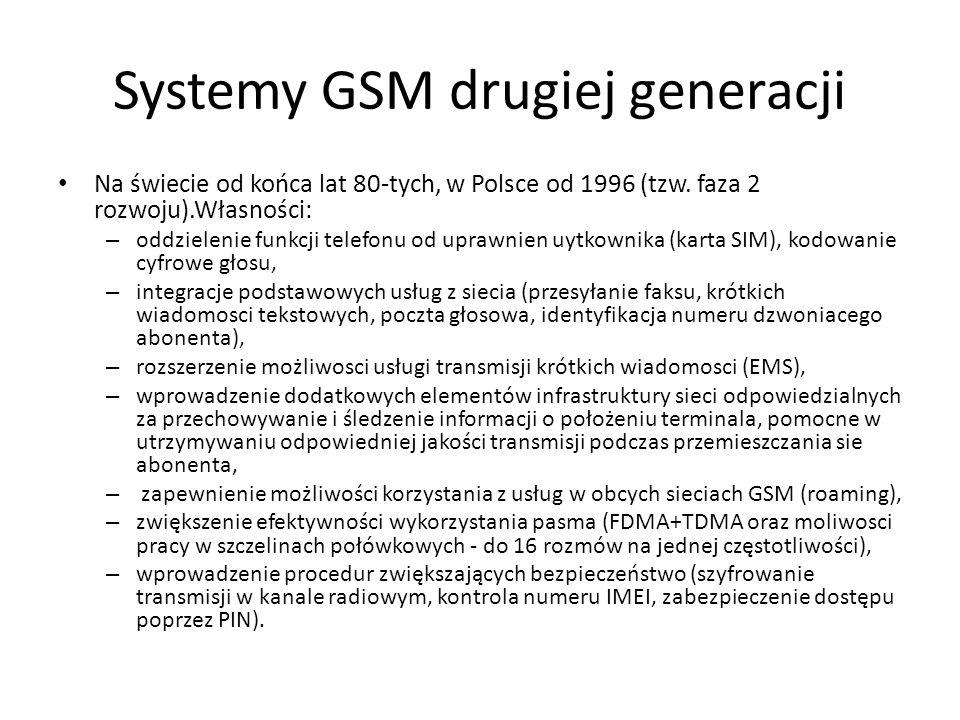 Systemy GSM drugiej generacji