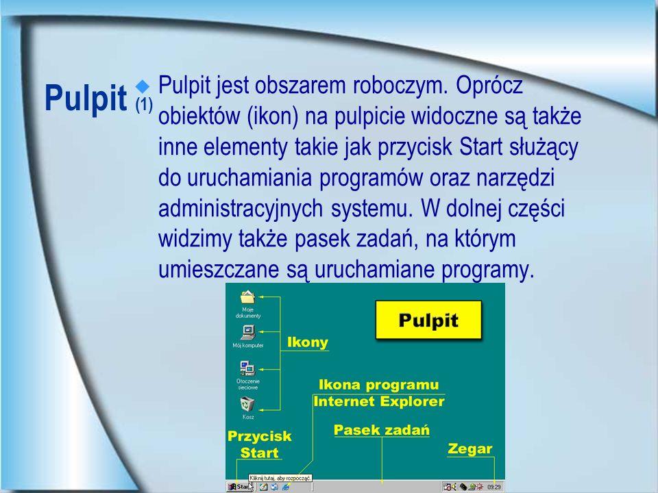 Pulpit jest obszarem roboczym
