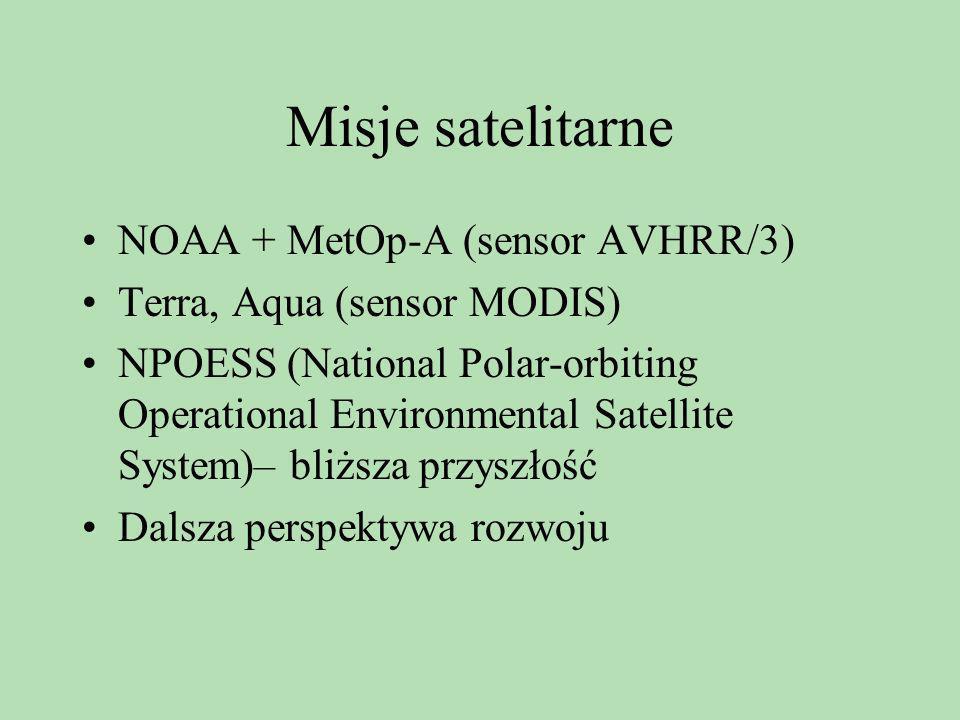 Misje satelitarne NOAA + MetOp-A (sensor AVHRR/3)