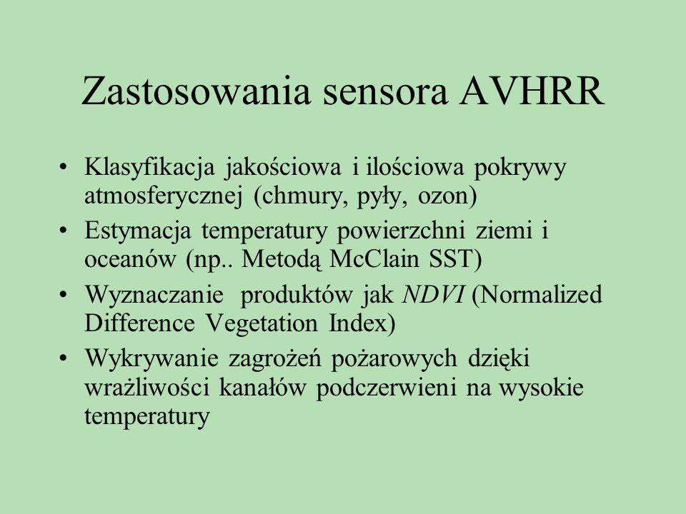 Zastosowania sensora AVHRR