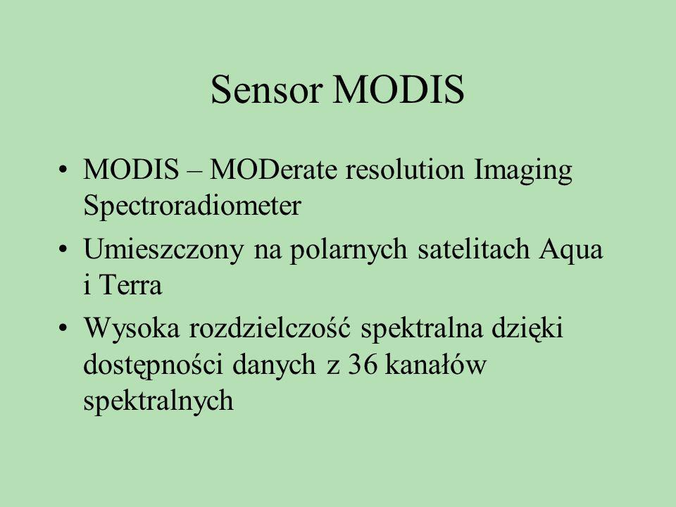 Sensor MODIS MODIS – MODerate resolution Imaging Spectroradiometer