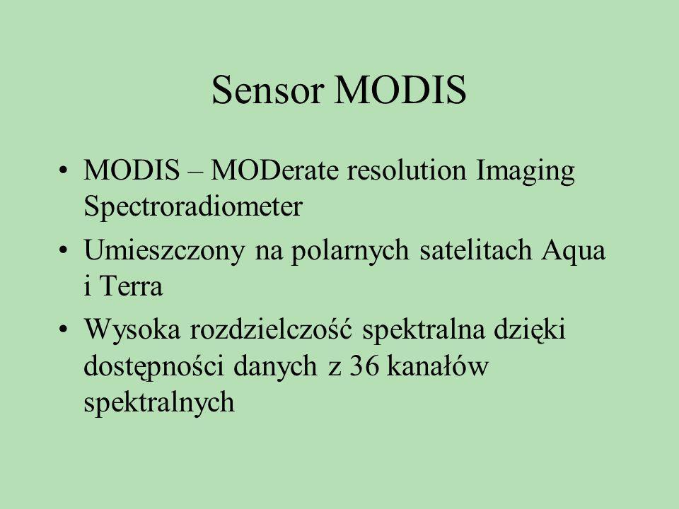 Sensor MODIS MODIS – MODerate resolution Imaging Spectroradiometer