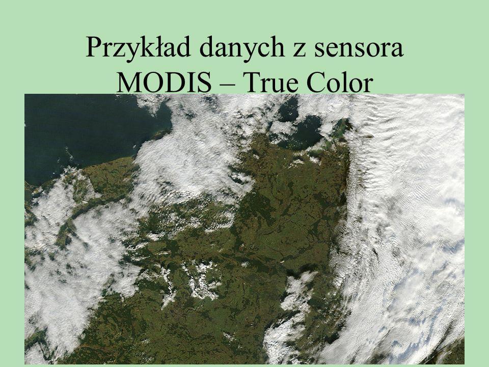 Przykład danych z sensora MODIS – True Color