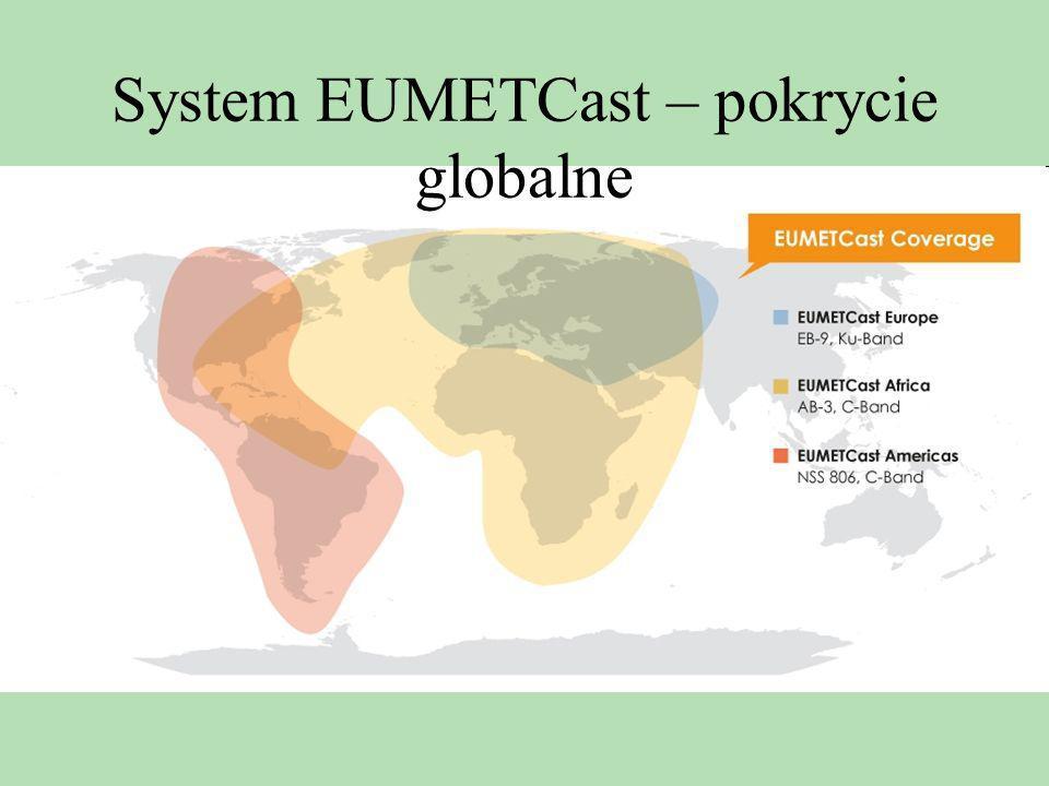 System EUMETCast – pokrycie globalne