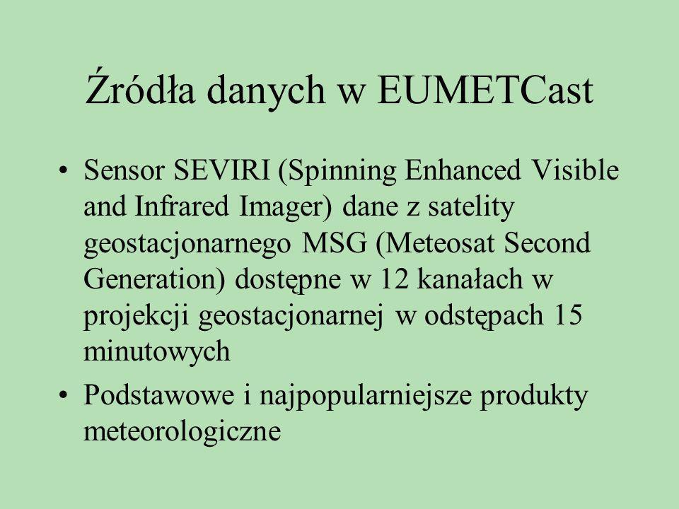 Źródła danych w EUMETCast