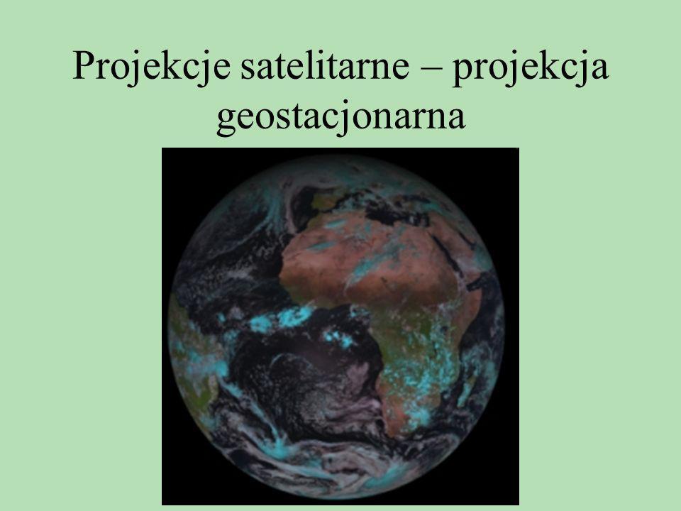 Projekcje satelitarne – projekcja geostacjonarna