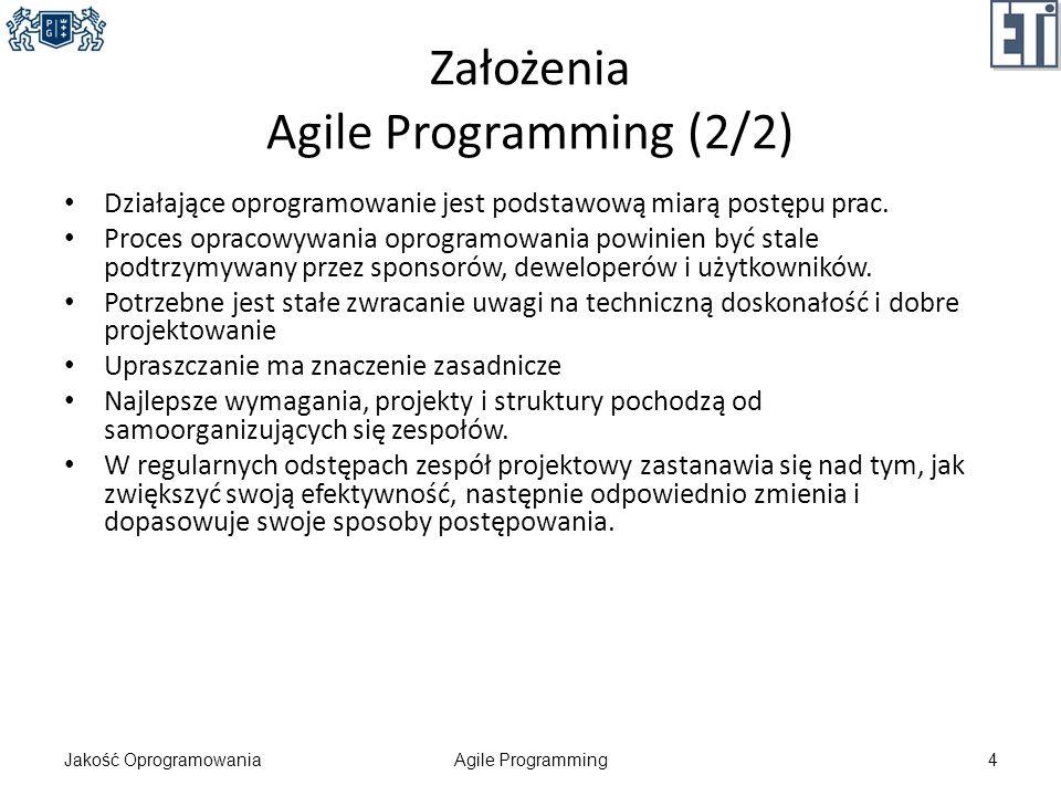 Założenia Agile Programming (2/2)