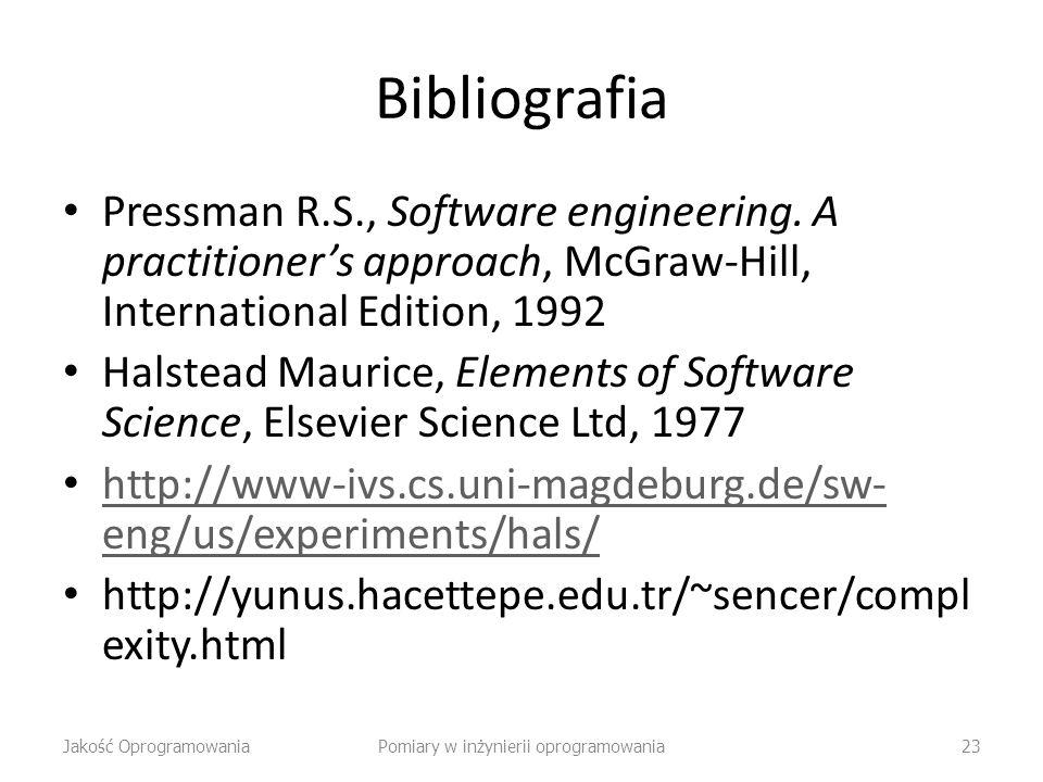 Pomiary w inżynierii oprogramowania