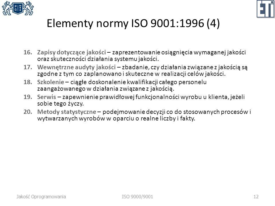 Elementy normy ISO 9001:1996 (4)