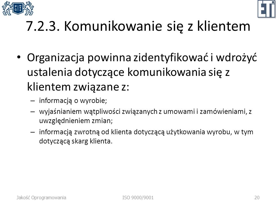 7.2.3. Komunikowanie się z klientem