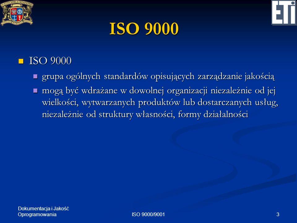ISO 9000 ISO 9000. grupa ogólnych standardów opisujących zarządzanie jakością.