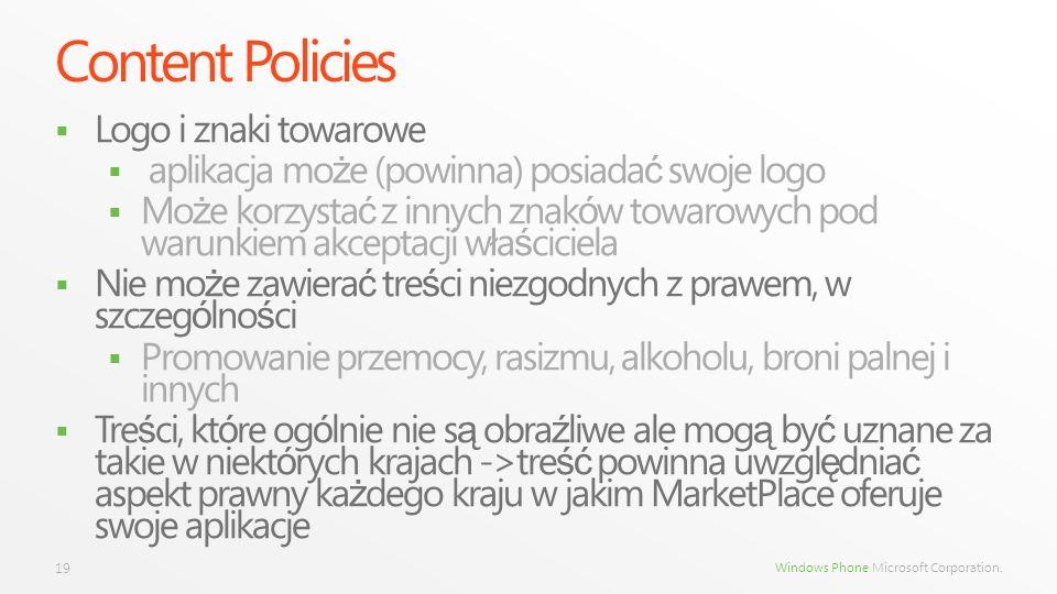 Content Policies Logo i znaki towarowe