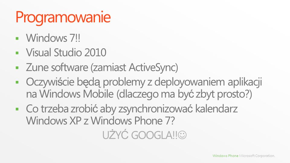 Programowanie Windows 7!! Visual Studio 2010
