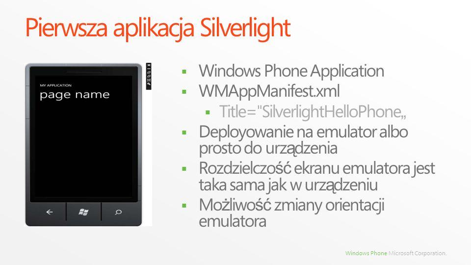 Pierwsza aplikacja Silverlight