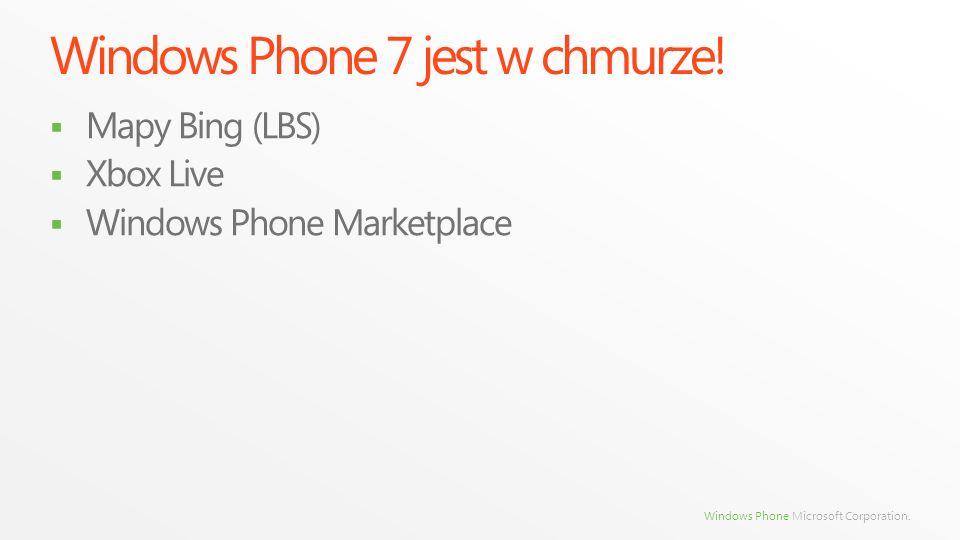 Windows Phone 7 jest w chmurze!