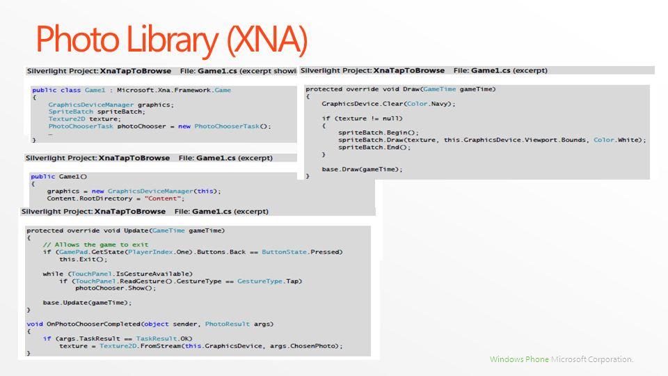Photo Library (XNA)