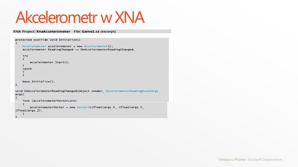 Akcelerometr w XNA
