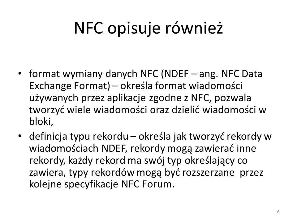 NFC opisuje również