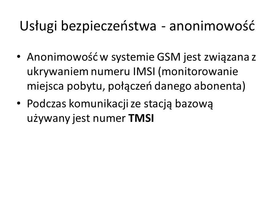Usługi bezpieczeństwa - anonimowość