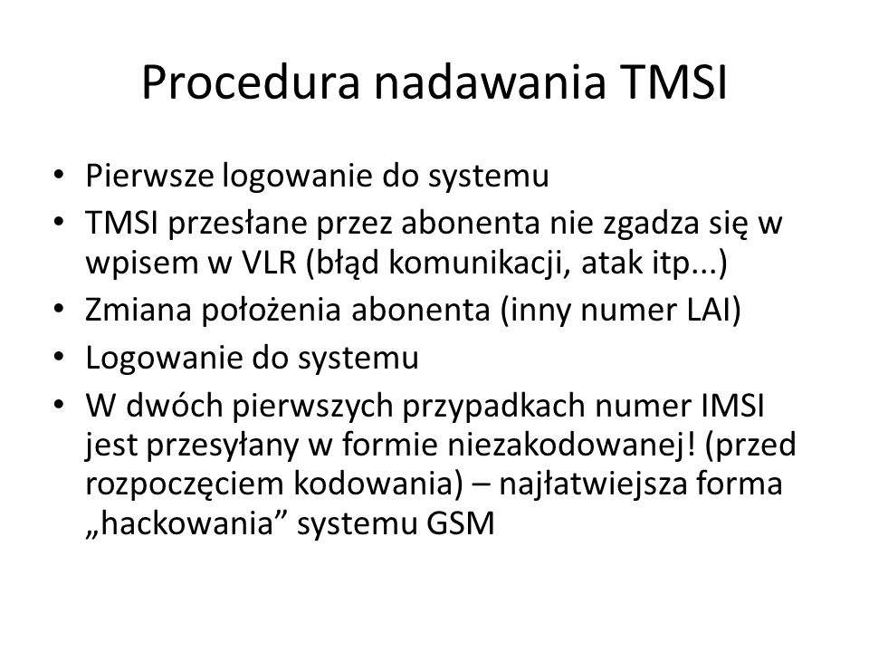 Procedura nadawania TMSI