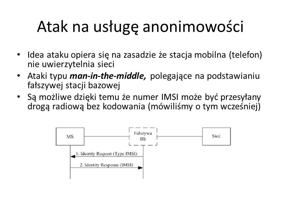 Atak na usługę anonimowości
