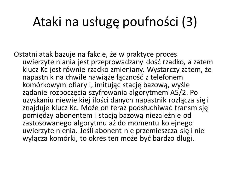 Ataki na usługę poufności (3)