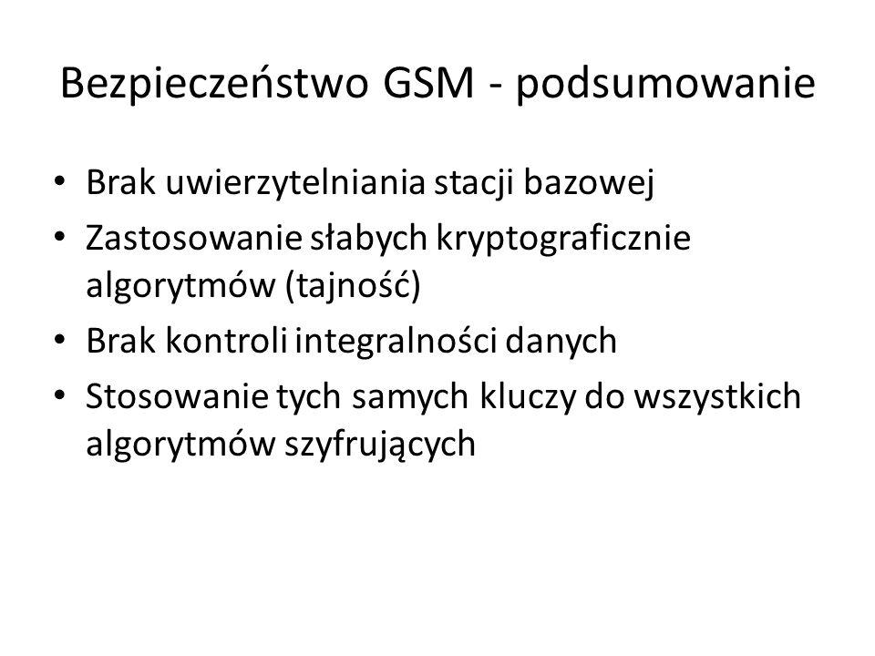 Bezpieczeństwo GSM - podsumowanie