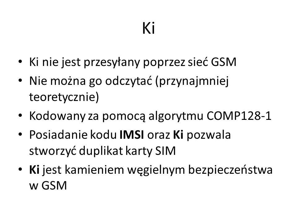 Ki Ki nie jest przesyłany poprzez sieć GSM