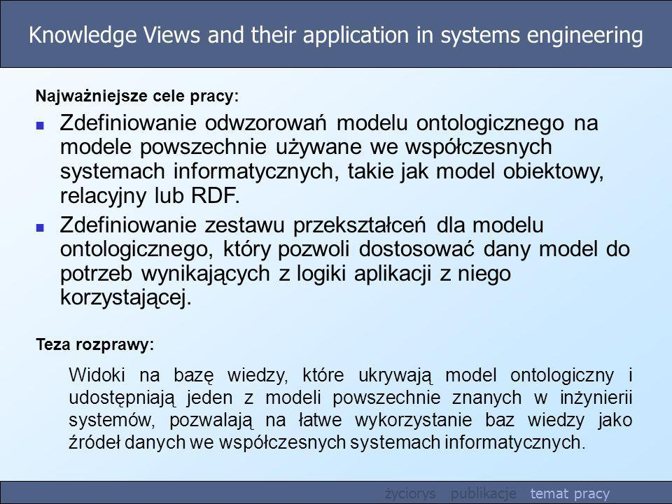 Knowledge Views and their application in systems engineering