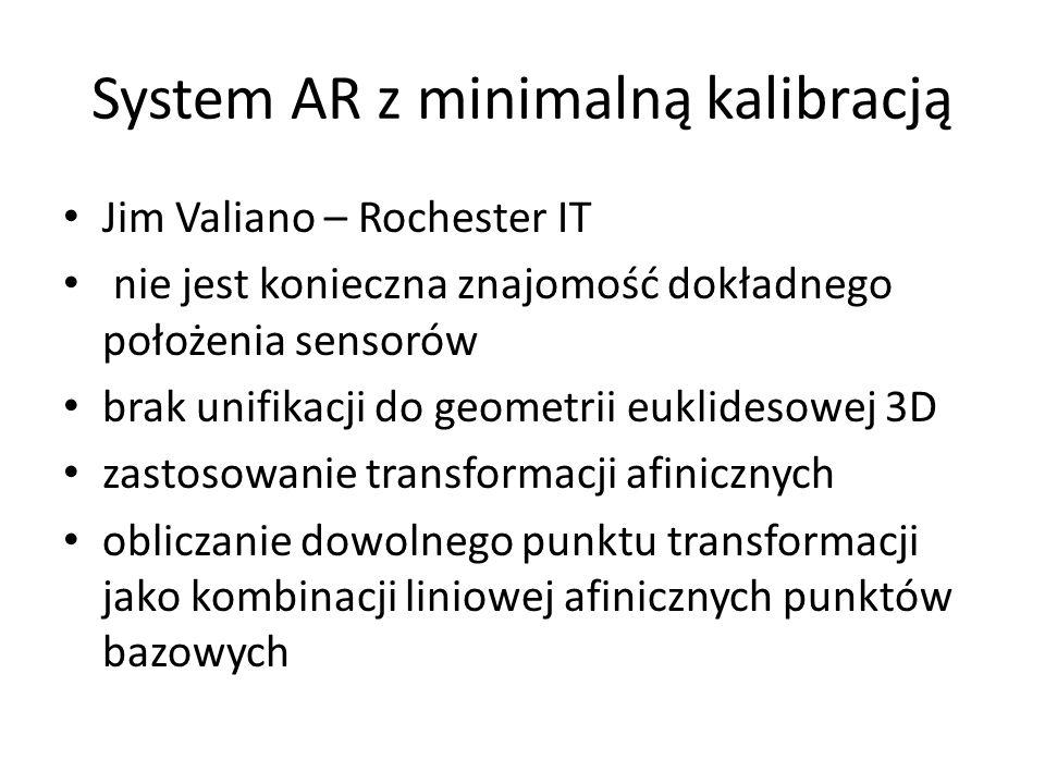 System AR z minimalną kalibracją