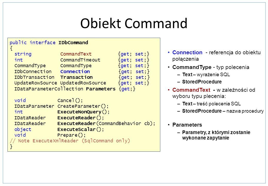 Obiekt Command Connection - referencja do obiektu połączenia