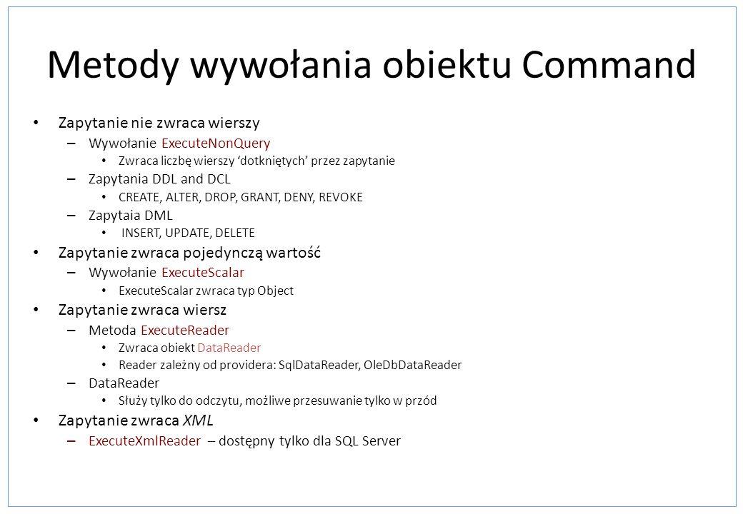 Metody wywołania obiektu Command