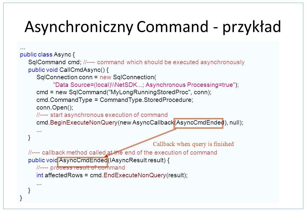 Asynchroniczny Command - przykład
