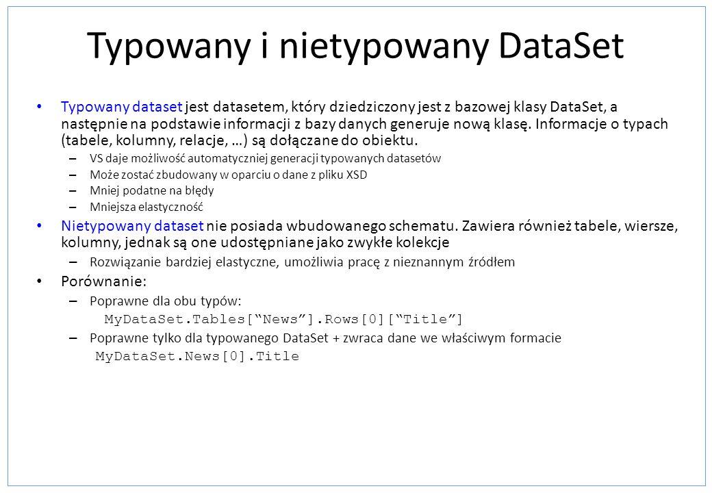 Typowany i nietypowany DataSet
