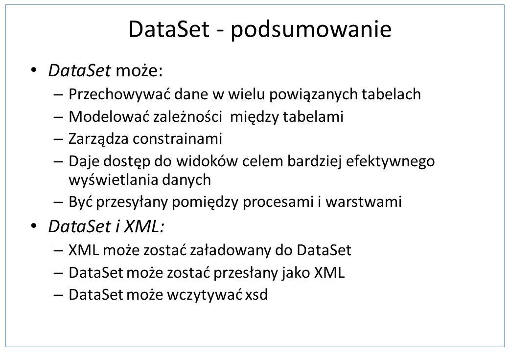 DataSet - podsumowanie