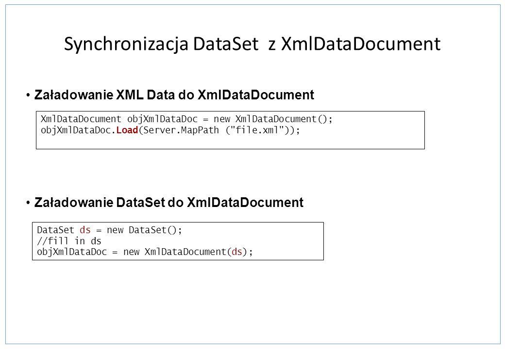 Synchronizacja DataSet z XmlDataDocument