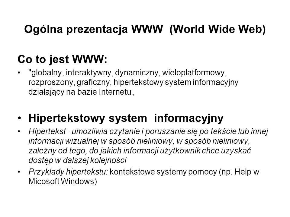 Ogólna prezentacja WWW (World Wide Web)