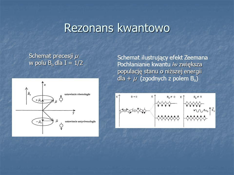 Rezonans kwantowo Schemat precesji µ Schemat ilustrujący efekt Zeemana
