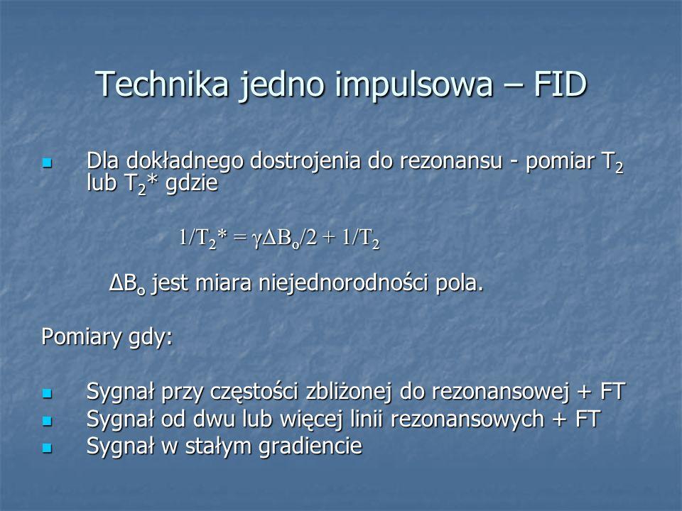 Technika jedno impulsowa – FID