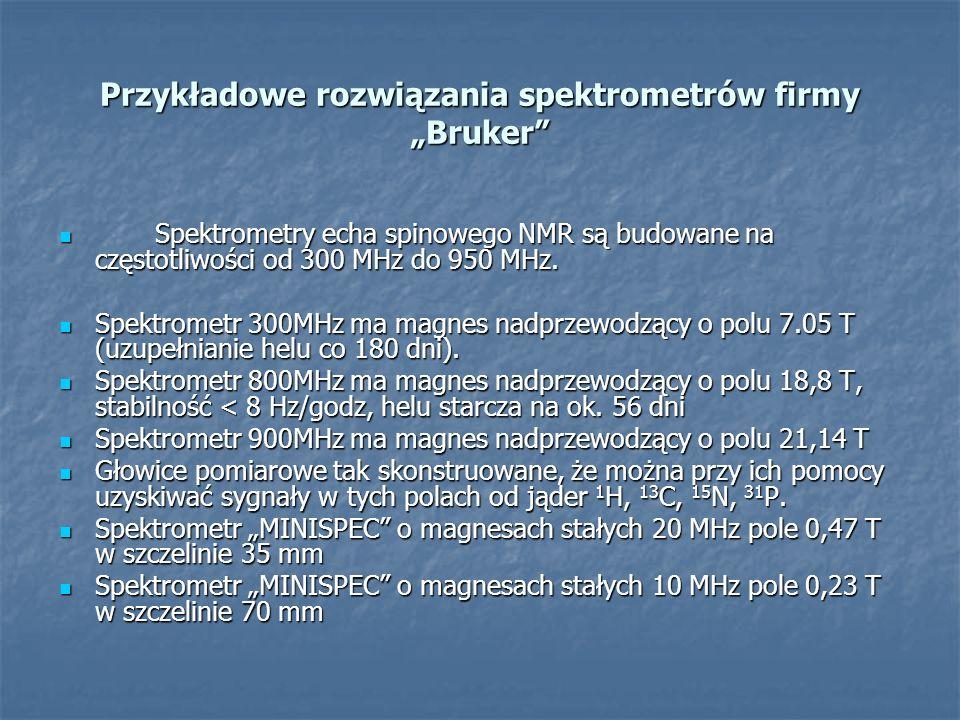 """Przykładowe rozwiązania spektrometrów firmy """"Bruker"""