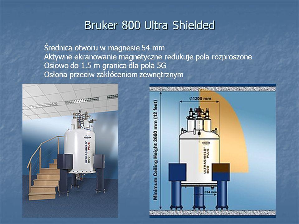 Bruker 800 Ultra Shielded Średnica otworu w magnesie 54 mm