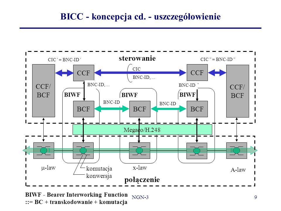 BICC - koncepcja cd. - uszczegółowienie