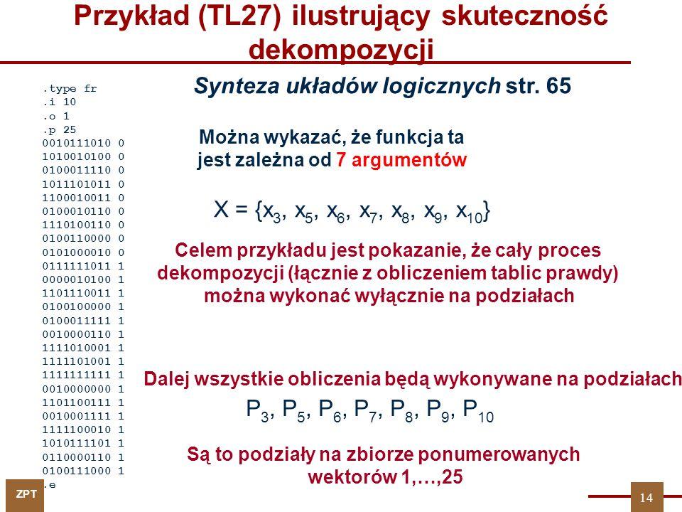 Przykład (TL27) ilustrujący skuteczność dekompozycji