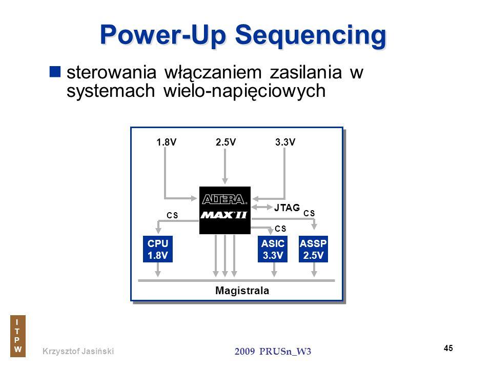 Power-Up Sequencingsterowania włączaniem zasilania w systemach wielo-napięciowych. CS. 2.5V. 3.3V. CPU 1.8V.