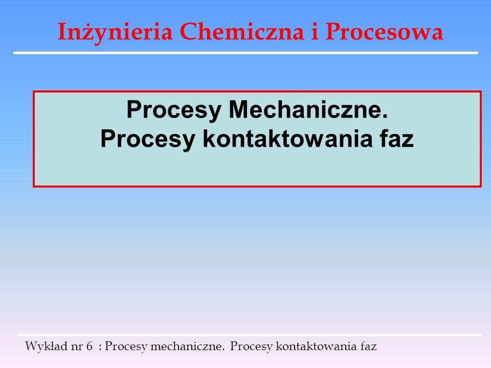 Procesy kontaktowania faz