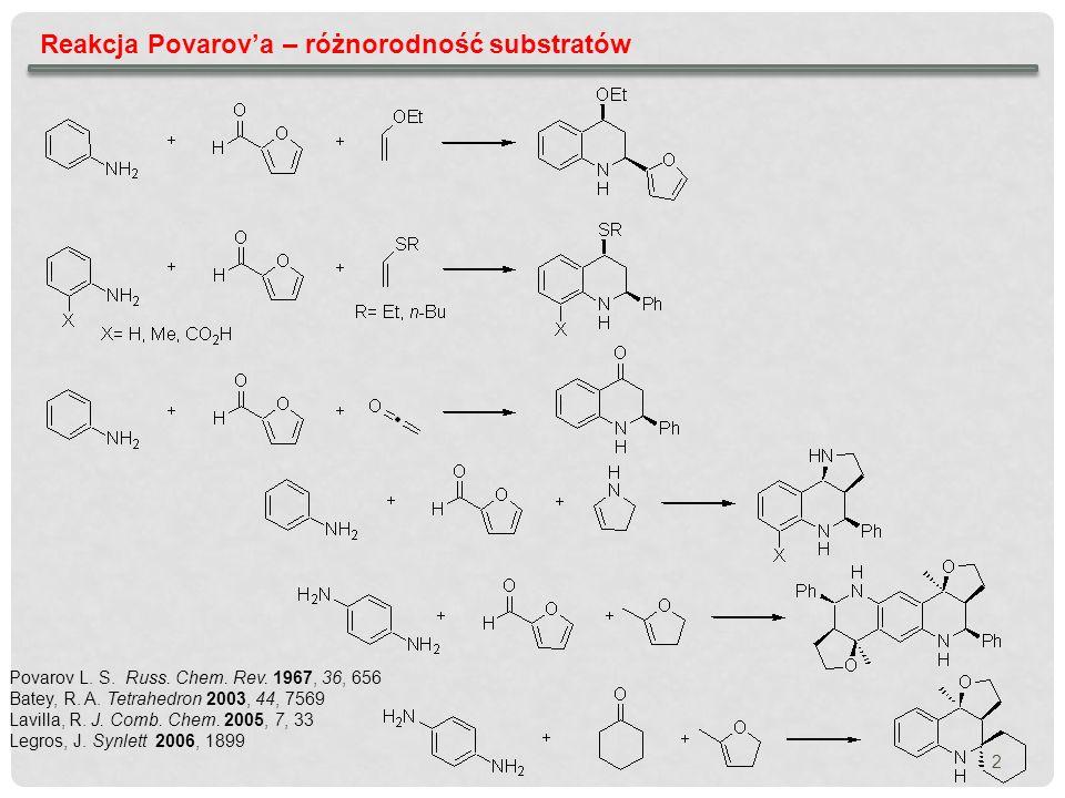Reakcja Povarov'a – różnorodność substratów