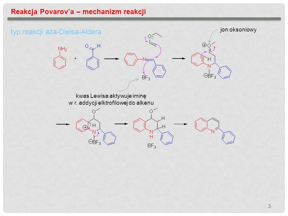 Reakcja Povarov'a – mechanizm reakcji
