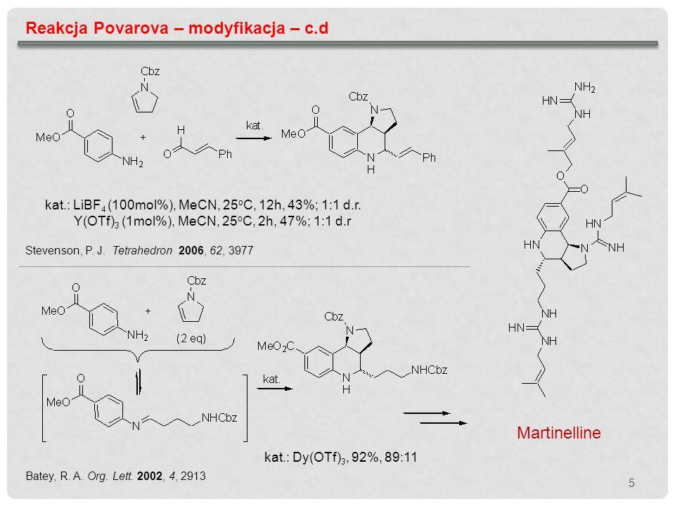 Reakcja Povarova – modyfikacja – c.d