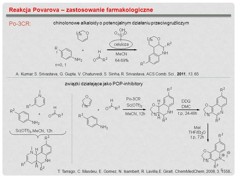 Reakcja Povarova – zastosowanie farmakologiczne